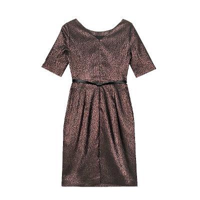 belted shinny dress